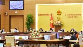 Phiên họp thứ 43, Ủy ban Thường vụ Quốc hội. Ảnh: TTXVN