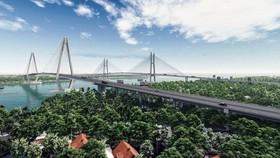 Phối cảnh dự án cầu Mỹ Thuận 2, sẽ đấu nối với cao tốc Trung Lương - Mỹ Thuận và tuyến cao tốc Mỹ Thuận - Cần Thơ