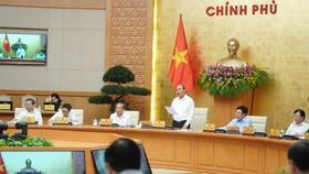 Thủ tướng Nguyễn Xuân Phúc nhấn mạnh tinh thần không lùi bước trước khó khăn. Ảnh: VGP
