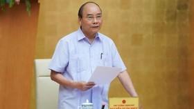 Thủ tướng Nguyễn Xuân Phúc phát biểu kết luận cuộc họp. Ảnh: VGP