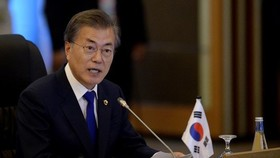 Tổng thống Hàn Quốc Moon Jae-in. Nguồn: REUTERS