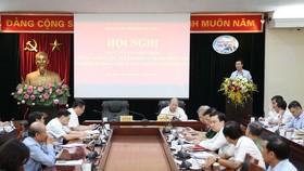 Trưởng Ban Tuyên giáo  Trung ương  Võ Văn Thưởng phát biểu chỉ đạo phương hướng, nhiệm vụ công tác tuyên giáo 6 tháng cuối năm 2020. Ảnh: TTXVN