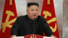 Lãnh đạo Triều Tiên Kim Jong-un phát biểu tại sự kiện kỷ niệm 67 năm kết thúc Chiến tranh Triều Tiên. Ảnh: KCNA