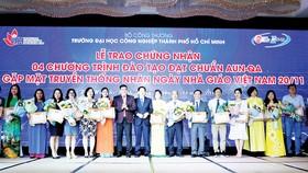 Nhiều chương trình đào tạo của trường đạt chuẩn kiểm định quốc tế và khu vực ASEAN