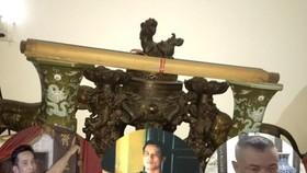 Nguyễn Văn Huy, Nguyễn Văn Hậu và Nguyễn Văn Toàn (từ trái qua phải ảnh) thực hiện 13 vụ trộm cắp cổ vật tại đình, chùa. Nguồn: VTC NEWS