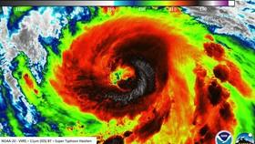 Haishen là cơn bão mạnh thứ 2 đổ bộ vào Nhật Bản trong một tuần. Ảnh: Severe Weather