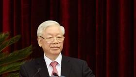 Tổng Bí thư, Chủ tịch nước Nguyễn Phú Trọng phát biểu tại Hội nghị lần thứ 13  Ban Chấp hành Trung ương Đảng khóa XII