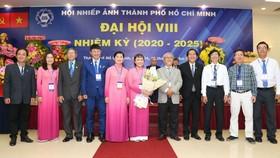 11 thành viên Ban Chấp hành nhiệm kỳ (2020-2025) ra mắt Đại hội. Nguồn: HOPA.VN