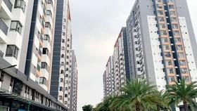 Một dự án chung cư tại quận 9, TPHCM chưa được cấp giấy chứng nhận. Ảnh: HUY PHAN
