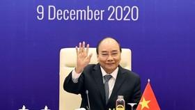 Thủ tướng Nguyễn Xuân Phúc tham dự Hội nghị cấp cao Campuchia - Lào - Myanmar - Việt Nam lần thứ 10. Ảnh: TTXVN