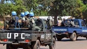Lực lượng gìn giữ hòa bình của LHQ tại Cộng hòa Trung Phi. Nguồn:  TTXVN