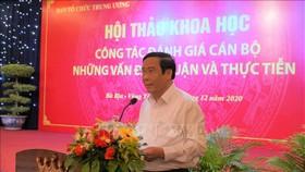 Đồng chí Nguyễn Thanh Bình, Ủy viên Ban chấp hành Trung ương Đảng, Phó Trưởng ban Thường trực Ban Tổ chức Trung ương phát biểu khai mạc Hội thảo. Ảnh: TTXVN