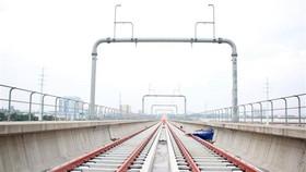 Đường ray tuyến metro số 1 (Bến Thành-Suối Tiên). Ảnh: TTXVN