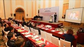 Viện Nghiên cứu cao cấp về Toán tổng kết chương trình trọng điểm quốc gia phát triển Toán học giai đoạn 2020-2021. Ảnh: TTXVN
