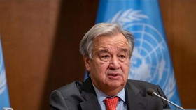 Tổng thư ký Liên hợp quốc Antonio Guterres phát biểu tại New York, Mỹ. Ảnh: THX/TTXVN
