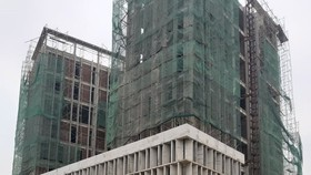 Công trình trụ sở Sở Tài chính Nghệ An, nơi xảy ra vụ tai nạn lao động làm nhiều người bị thương