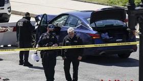 Lực lượng an ninh phong tỏa hiện trường vụ tấn công. Nguồn: AP