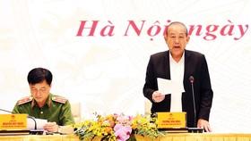 Phó Thủ tướng Thường trực Trương Hòa Bình phát biểu tại hội nghị. Ảnh: TTXVN