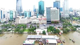 Bến Bạch Đằng là một trong nhiều bến trên sông và kênh lớn  đang được khai thác du lịch.  Ảnh: HOÀNG HÙNG