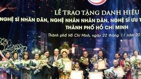 TPHCM: 100 cá nhân được thông qua hồ sơ xét tặng danh hiệu NSND, NSƯT