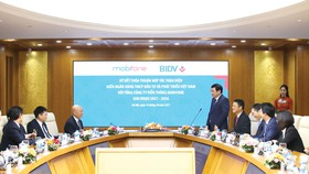 Ông Phan Đức Tú, Chủ tịch HĐQT BIDV phát biểu tại lễ ký kết