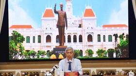 Phó Chủ tịch UBND TPHCM Võ Văn Hoan phát biểu tại buổi tọa đàm. Nguồn: THANHUYTPHCM.VN