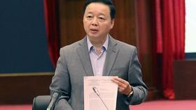 Bộ trưởng Bộ TN-MT Trần Hồng Hà chủ trì cuộc họp với một số hội, hiệp hội doanh nghiệp (DN) về dự thảo nghị định quy định chi tiết một số điều của Luật Bảo vệ môi trường. Nguồn: VIETNAMNET
