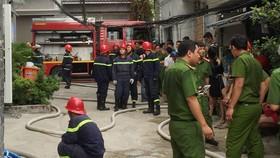 Lực lượng chữa cháy có mặt tại hiện trường