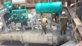 Máy bơm nước trên đường Nguyễn Hữu Cảnh