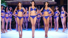 Thí sinh Hoa hậu Đại Dương 2017 quyến rũ trong phần thi trang phục bikini