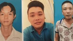 Các đối tượng bị bắt giữ (từ trái qua): Trần Ngọc Nguyên,  Lương Phan Nhựt Huy và Nguyễn Hồng Khanh.