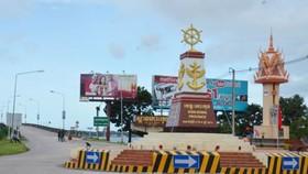 Đài Hữu nghị Việt Nam - Campuchia tại tỉnh Koh Kong, Campuchia. Ảnh:  TTXVN