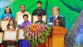 Phó Thủ tướng Thường trực Chính phủ Trương Hòa Bình phát biểu tại lễ tuyên dương. Ảnh: VGP