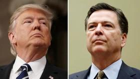 Tổng thống Mỹ Trump (trái), và cựu giám đốc FBI Comey. Ảnh: REUTERS