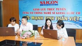 Giao lưu trực tuyến với nghệ sĩ Giang Quốc Cơ và người bạn đời MC Hồng Phượng