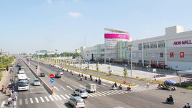 Đại lộ Bình Dương khang trang, tập trung nhiều siêu thị, cửa hàng hiện đại