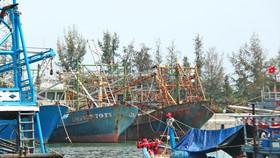 Tàu vỏ thép của ông Lê Tuyên (Quảng Nam) nằm bờ cả năm nay, bị gỉ sét. Ảnh: NGỌC PHÚC