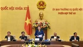 Chủ tịch Quốc hội Nguyễn Thị Kim Ngân phát biểu tại phiên bế mạc. Ảnh: VIẾT CHUNG