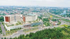 Bệnh viện Ung bướu TPHCM cơ sở 2 có sân bay trực thăng trên sân thượng. Ảnh: HOÀNG HÙNG