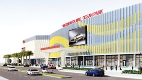 """Mặt tiền của Vincom Mega Mall Ocean Park ấn tượng với thiết kế """"gợn sóng"""""""