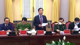 Phó Chủ nhiệm Văn phòng Chủ tịch nước Phạm Thanh Hà công bố Lệnh của Chủ tịch nước về việc công bố 7 luật được Quốc hội khóa XIV thông qua tại Kỳ họp thứ 10. Ảnh: VGP