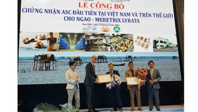 Chứng nhận ASC đầu tiên trên thế giới cho nghêu trắng của Việt Nam