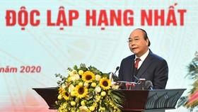 BAN BIÊN TẬP  Thủ tướng Nguyễn Xuân Phúc phát biểu tại Hội nghị. Ảnh: VGP