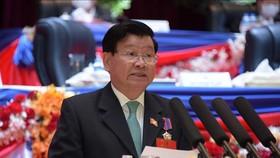 Tại Hội nghị trung ương lần thứ nhất, Ban Chấp hành Trung ương Đảng Nhân dân Cách mạng Lào khóa XI đã bầu đồng chí Thongloun Sisoulith giữ chức Tổng Bí thư. Ảnh: TTXVN