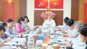 Đồng chí Nguyễn Thiện Nhân làm việc với Ban Thường vụ Thành ủy TP Thủ Đức