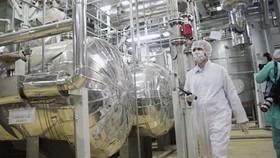 Bên trong một cơ sở làm giàu urani của Iran. Ảnh: Getty