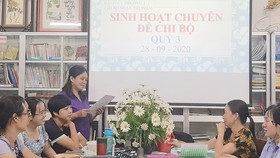 Chi bộ Trường Tiểu học Đoàn Thị Điểm, phường 2 (quận 4)  họp chi bộ chuyên đề