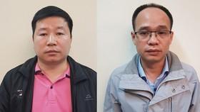 Chu Bá Toàn (trái) và Hoàng Thanh Sơn. Ảnh: Bộ Công an