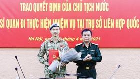 Thiếu tá Nguyễn Phúc Đông là sĩ quan thứ 3 của Việt Nam trúng tuyển vào làm việc tại trụ sở LHQ