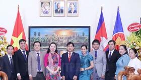 Lãnh đạo Sở Ngoại vụ TPHCM chúc mừng Tết cổ truyền Campuchia